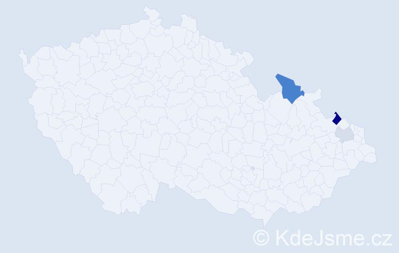 Příjmení: 'Cekurasová', počet výskytů 5 v celé ČR