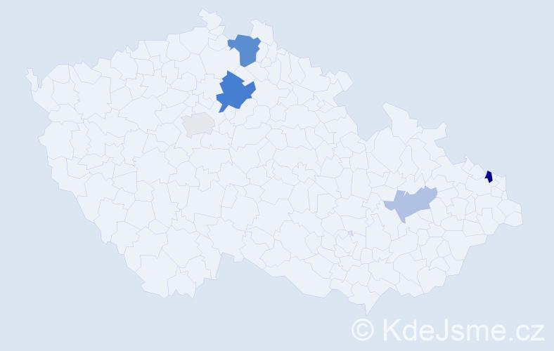 Příjmení: 'Frick', počet výskytů 10 v celé ČR