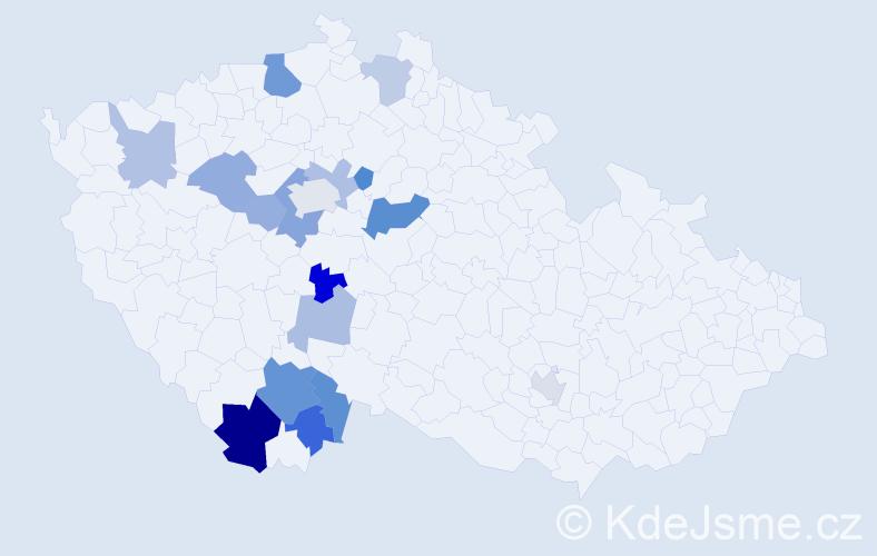 Příjmení: 'Hölzl', počet výskytů 29 v celé ČR