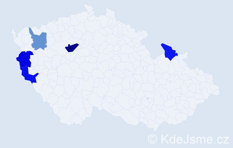 Příjmení: 'Glasser', počet výskytů 7 v celé ČR