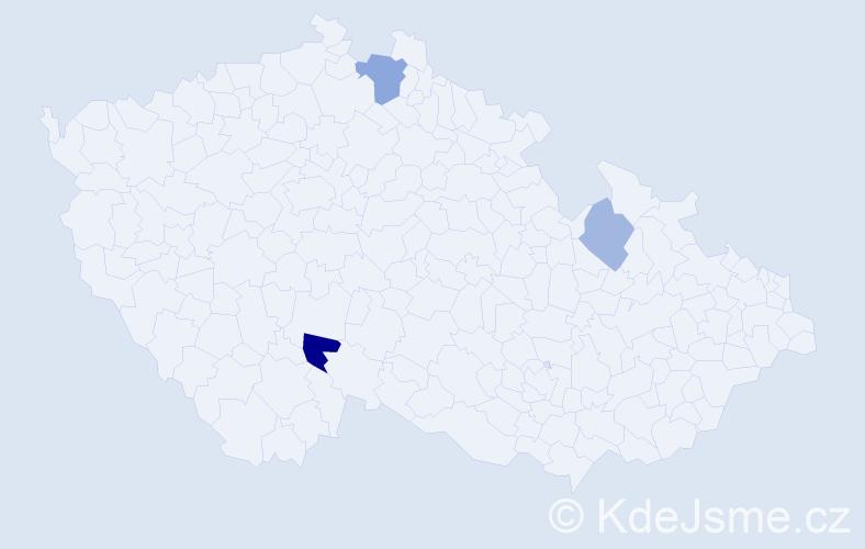 Příjmení: 'Dedeciová', počet výskytů 5 v celé ČR