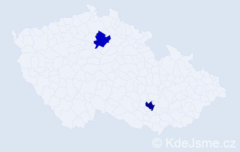 Příjmení: 'Lapúníková', počet výskytů 4 v celé ČR