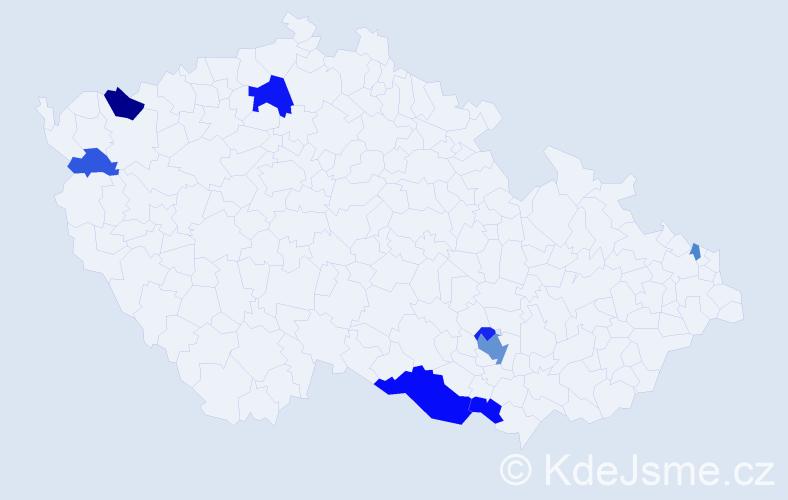 Příjmení: 'Knothová', počet výskytů 19 v celé ČR