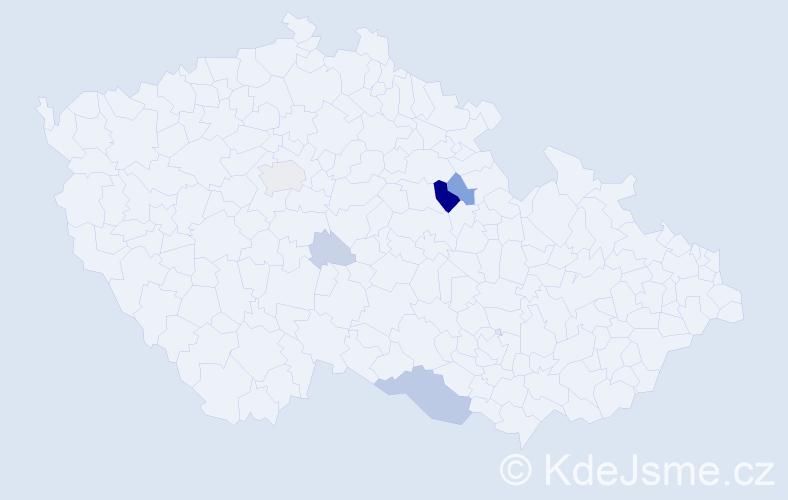 Příjmení: 'Cablková', počet výskytů 20 v celé ČR