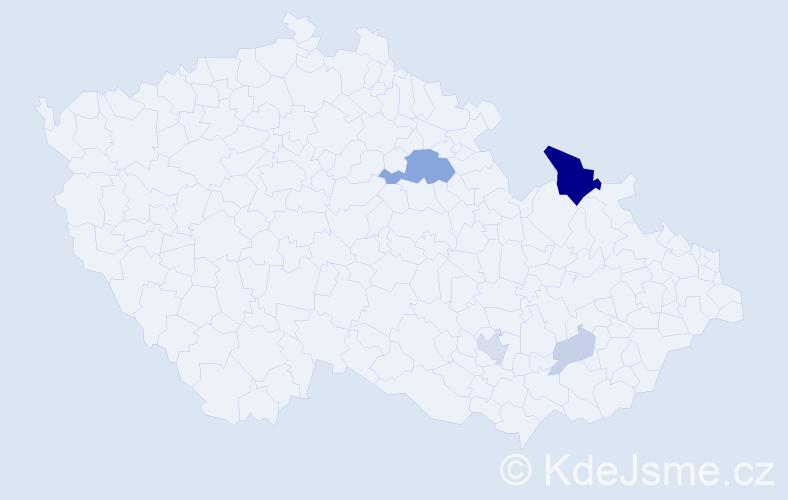 Příjmení: 'Černěnková', počet výskytů 14 v celé ČR