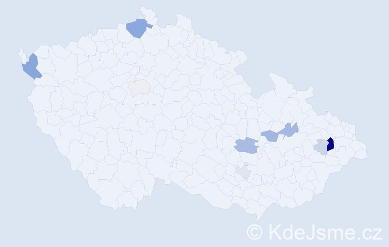 Příjmení: 'Leiter', počet výskytů 26 v celé ČR
