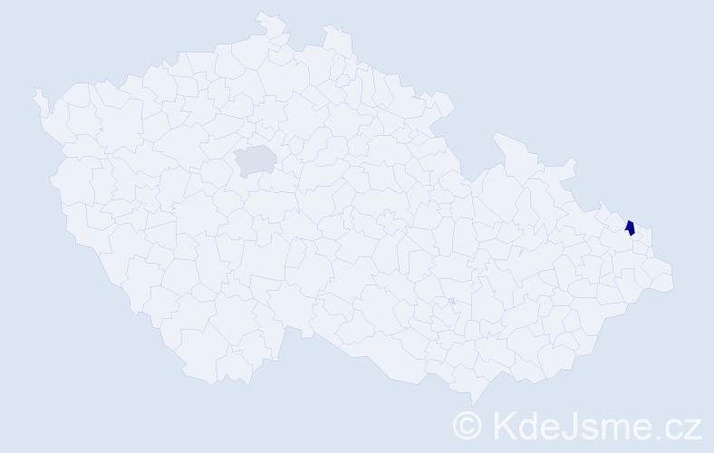 Příjmení: 'Cisarzová', počet výskytů 2 v celé ČR