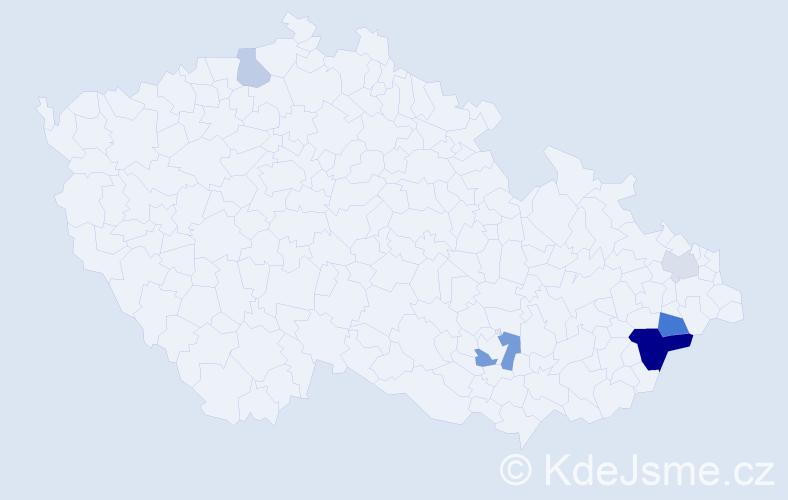 Příjmení: 'Abdul', počet výskytů 13 v celé ČR