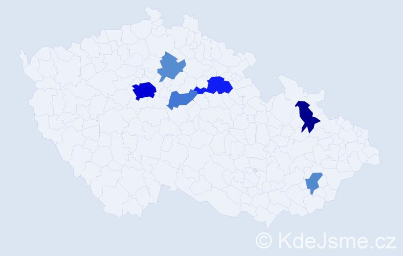 Příjmení: 'Domnosilová', počet výskytů 21 v celé ČR