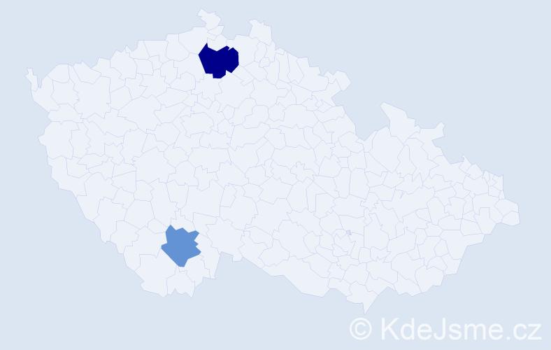 Příjmení: 'Dornaus', počet výskytů 8 v celé ČR