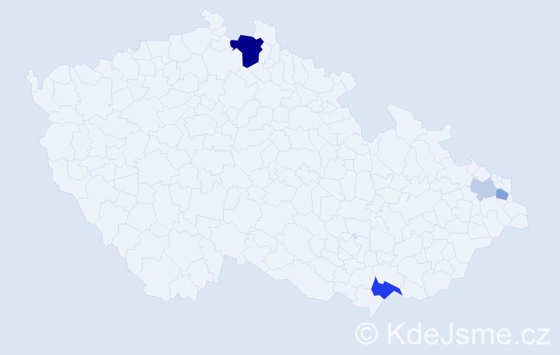 Příjmení: 'Balvirčák', počet výskytů 9 v celé ČR