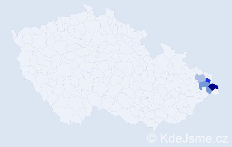 Příjmení: 'Kwapulinski', počet výskytů 6 v celé ČR