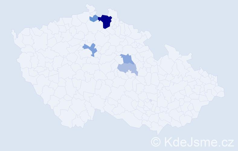 Příjmení: 'Dobružská', počet výskytů 16 v celé ČR