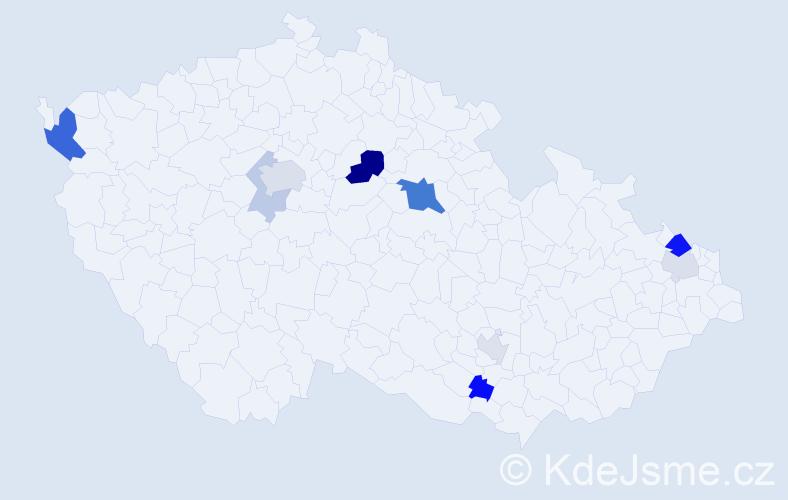 Příjmení: 'Eppinger', počet výskytů 21 v celé ČR