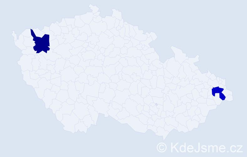 Příjmení: 'Kavalecz', počet výskytů 2 v celé ČR