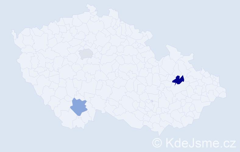 Příjmení: 'Edlmannová', počet výskytů 3 v celé ČR