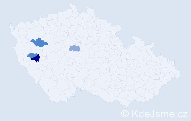 Příjmení: 'Grundfestová', počet výskytů 5 v celé ČR