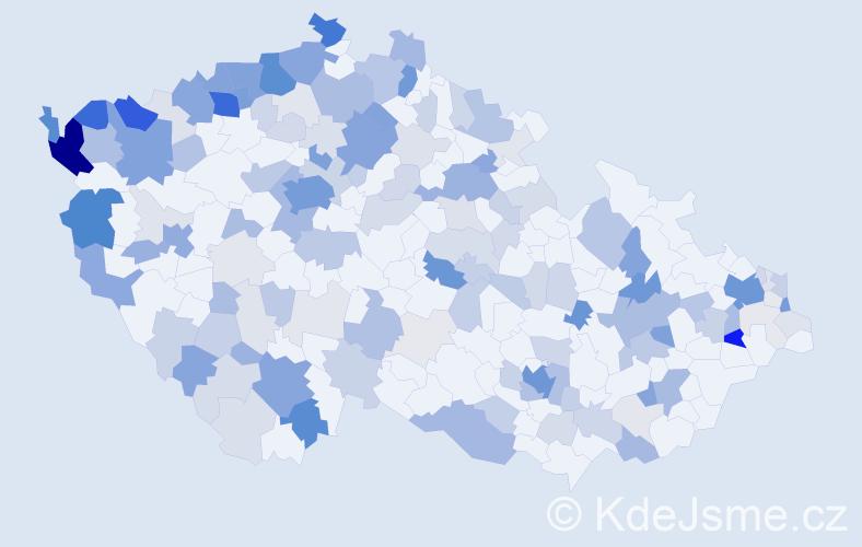 Příjmení: 'Le', počet výskytů 569 v celé ČR