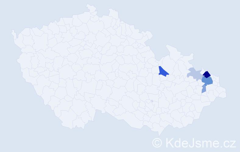 Příjmení: 'Feikus', počet výskytů 16 v celé ČR