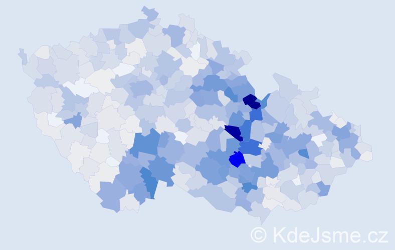 Příjmení: 'Bednář', počet výskytů 4823 v celé ČR