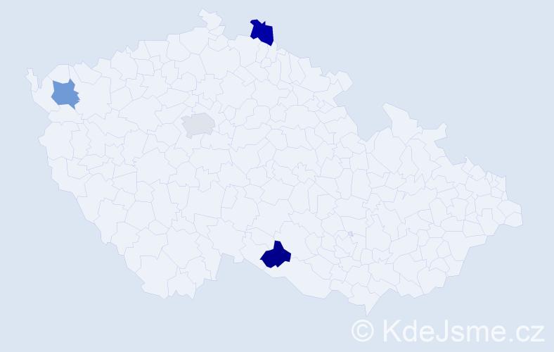Příjmení: 'Černičko', počet výskytů 4 v celé ČR