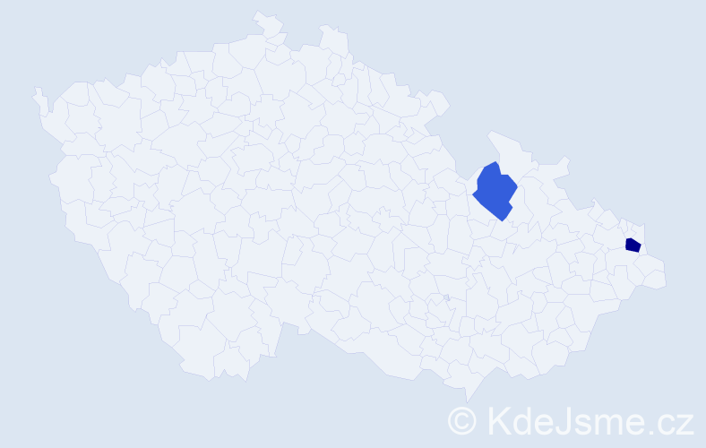 Příjmení: 'Bálan', počet výskytů 3 v celé ČR