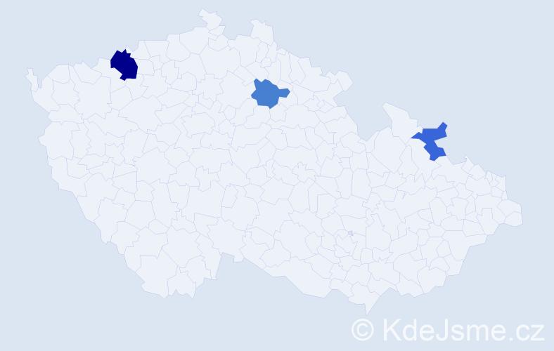 Příjmení: 'Makrai', počet výskytů 5 v celé ČR