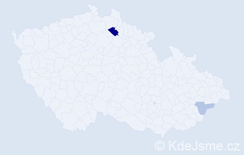 Příjmení: 'Appelfeld', počet výskytů 5 v celé ČR
