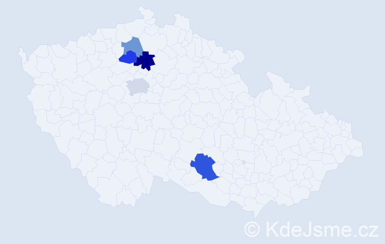 Příjmení: 'Černichová', počet výskytů 8 v celé ČR