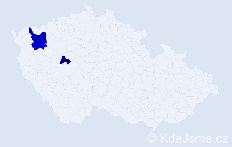 Příjmení: 'Erfurth', počet výskytů 7 v celé ČR