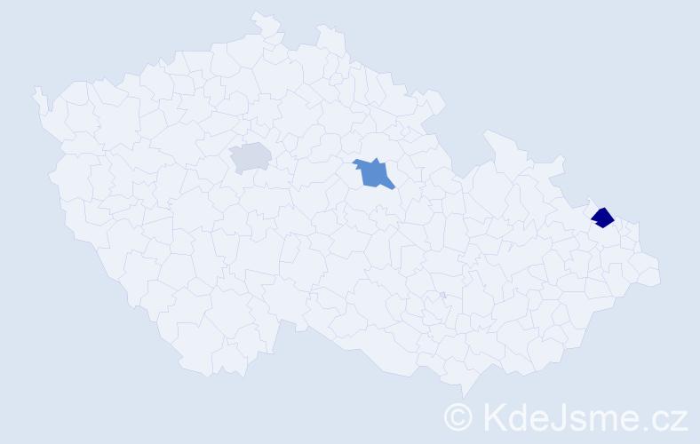 Příjmení: 'Lukašová', počet výskytů 3 v celé ČR