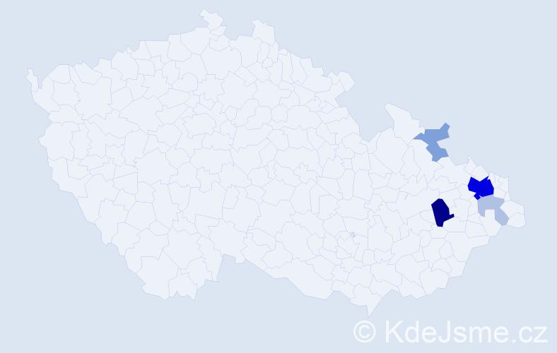 Příjmení: 'Jarecký', počet výskytů 20 v celé ČR