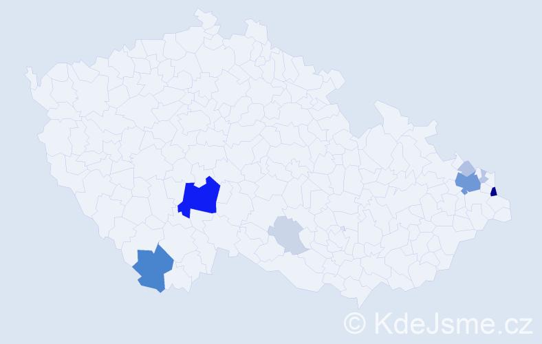 Příjmení: 'Kalafut', počet výskytů 35 v celé ČR