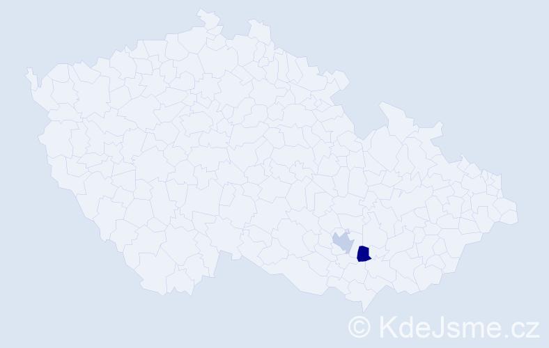Příjmení: 'Čolakova', počet výskytů 2 v celé ČR