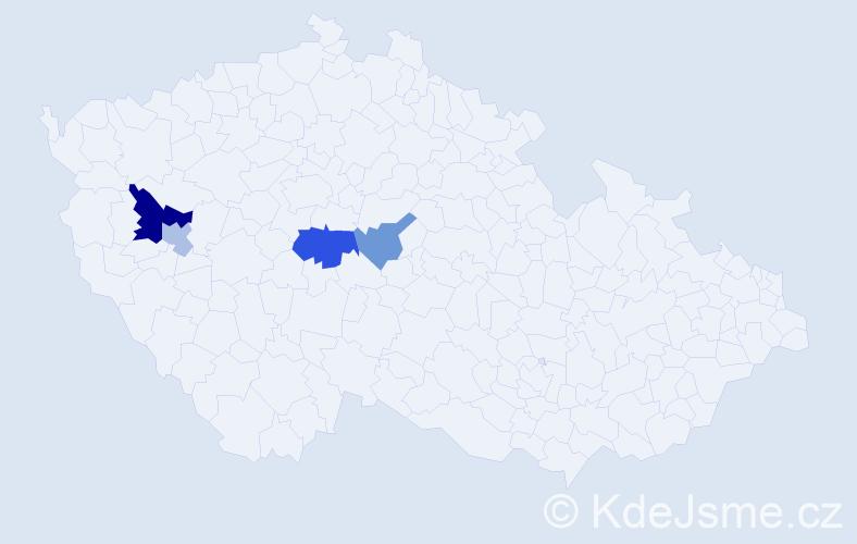 Příjmení: 'Behríková', počet výskytů 7 v celé ČR