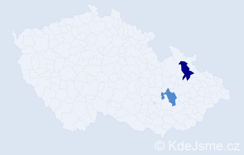 Příjmení: 'Labónková', počet výskytů 2 v celé ČR
