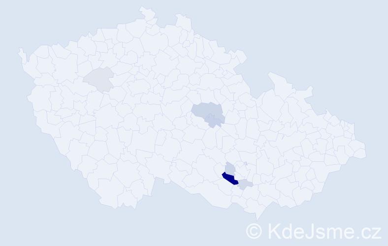 Příjmení: 'Korber', počet výskytů 20 v celé ČR