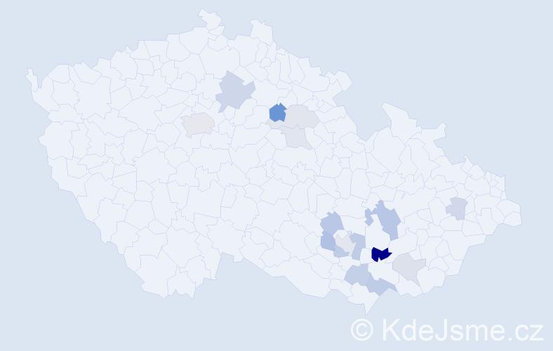 Příjmení: 'Čadíková', počet výskytů 30 v celé ČR
