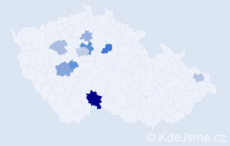 Příjmení: 'Dalekorej', počet výskytů 28 v celé ČR