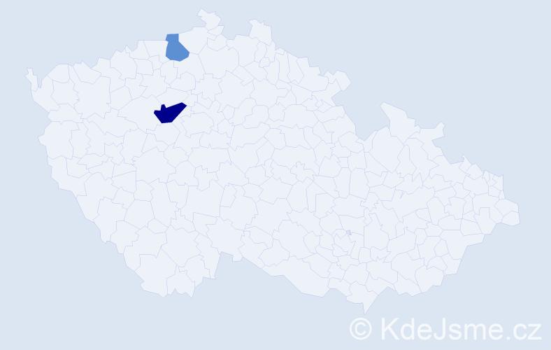Příjmení: 'Halwiger', počet výskytů 10 v celé ČR
