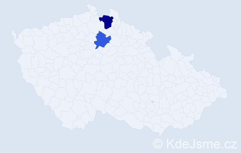 Příjmení: 'Heffer', počet výskytů 6 v celé ČR