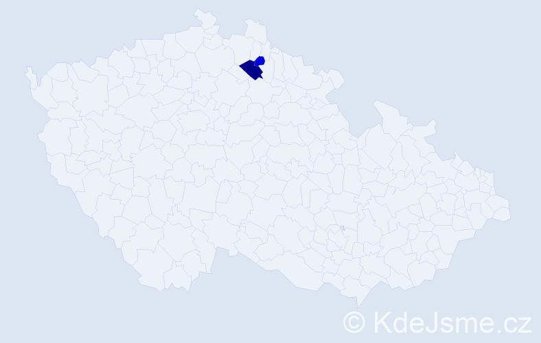 Příjmení: 'Groncki', počet výskytů 4 v celé ČR