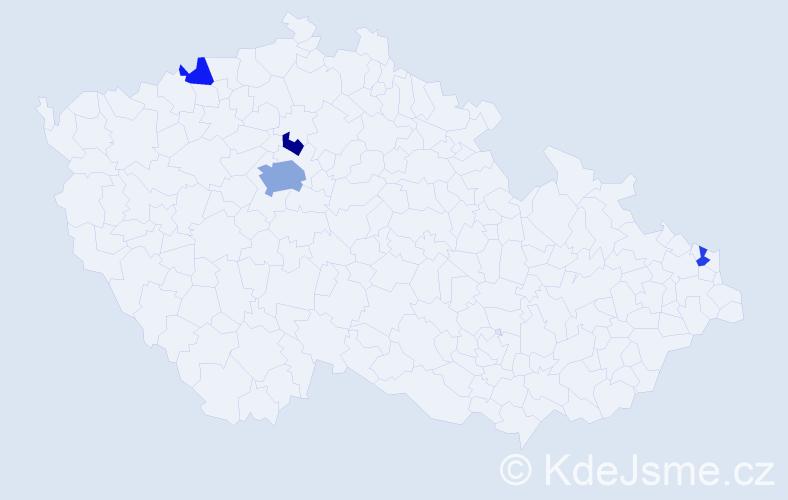 Příjmení: 'Kondrk', počet výskytů 8 v celé ČR