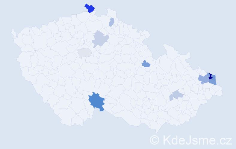 Příjmení: 'Kapias', počet výskytů 32 v celé ČR