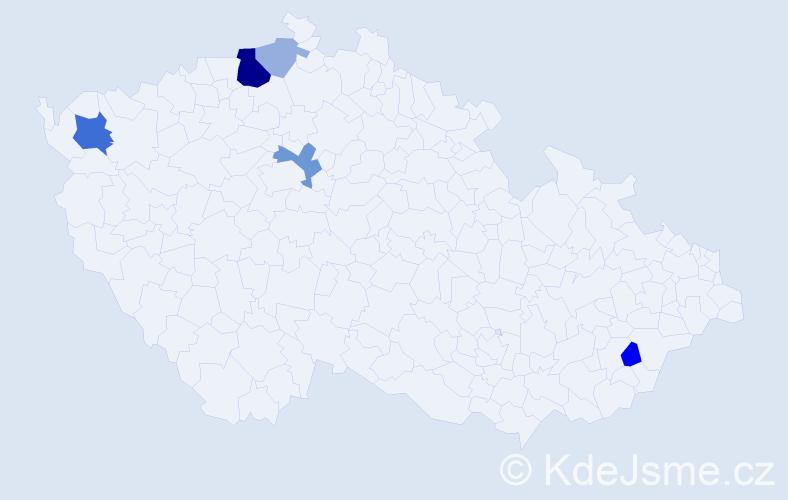 Příjmení: 'Fábri', počet výskytů 14 v celé ČR