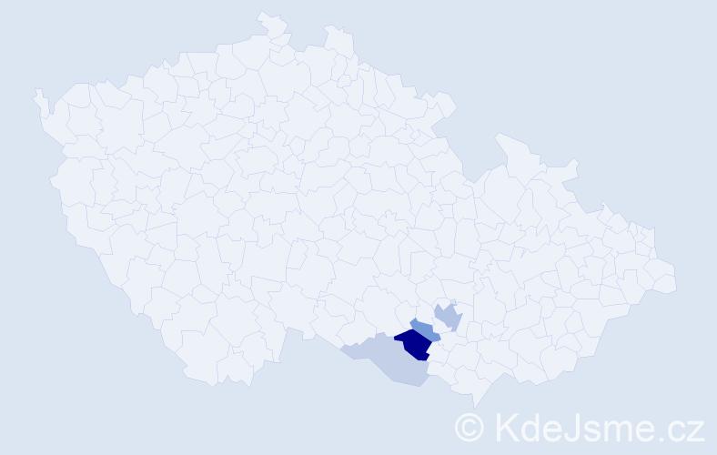 Příjmení: 'Irsenský', počet výskytů 9 v celé ČR