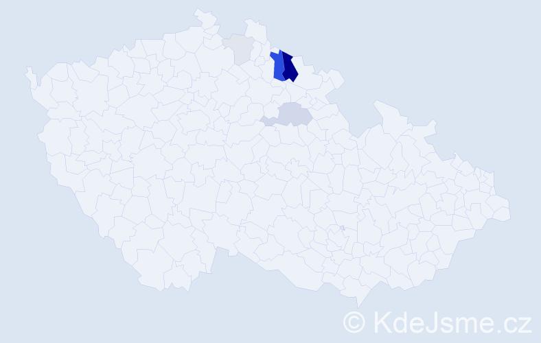 Příjmení: 'Jerjeová', počet výskytů 15 v celé ČR