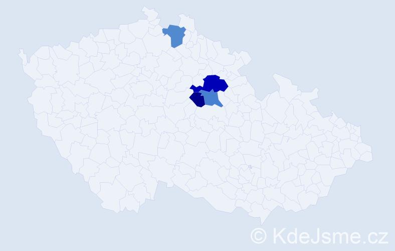 Příjmení: 'Isachová', počet výskytů 9 v celé ČR