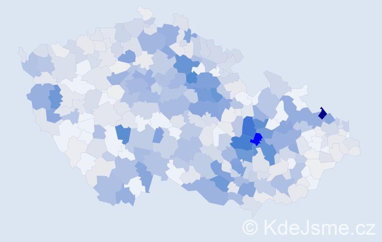 Příjmení: 'Komárková', počet výskytů 2761 v celé ČR