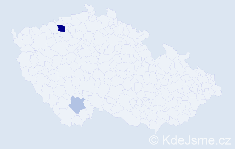 Příjmení: 'Chilo', počet výskytů 6 v celé ČR